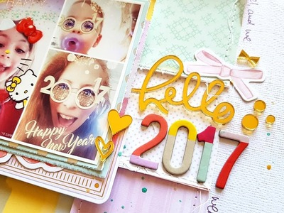 Scrapbooking Process- Hello 2017!- Hip Kit Club December 2016