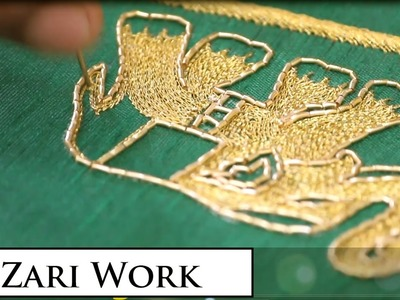 Zari Work HD Video On Elephant Design | Indian Hand Embroidery