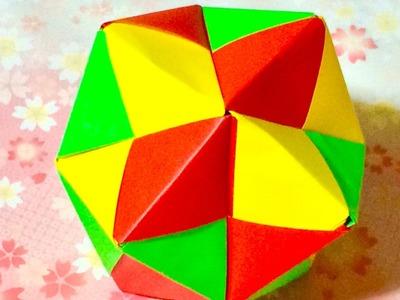 折り紙 くす玉 12枚     Modular Origami  Ball. 12Units