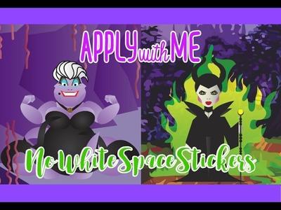 APPLY WITH ME. Ursula & Maleficent. Happy Planner & Erin Condren. NoWhiteSpaceStickers
