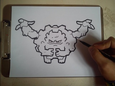 COMO DIBUJAR A GRAVELER - POKEMON. how to draw graveler - pokemon