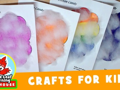 Cotton Candy Craft for Kids | Maple Leaf Learning Playhouse