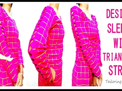 Designer Sleeves With Triangular Strips | Easy Making | DIY - Tailoring With Usha