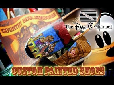 Disney DIY|  Vintage Disneyland Country Bear Jamboree Custom Painted Shoes | The Dan-O Channel