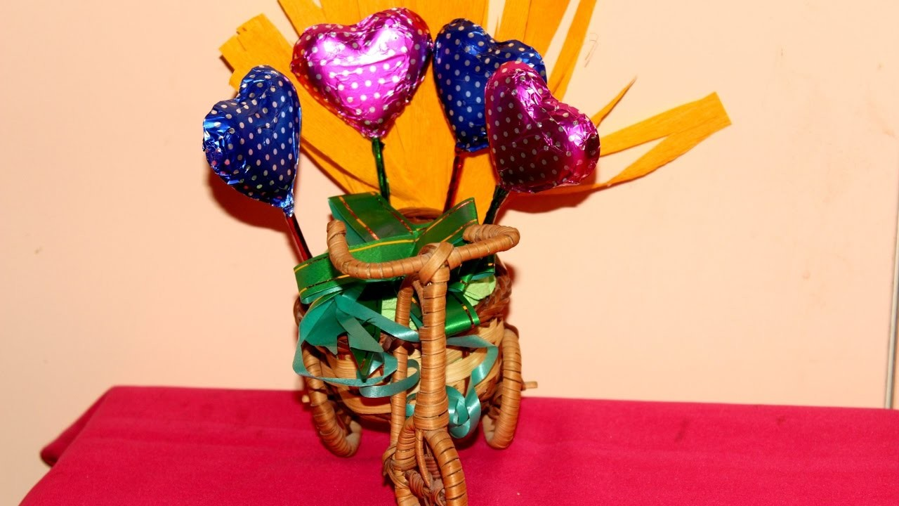 Diy Chocolate Bouquet Valentines Day Spcl Easy Simple Handmade