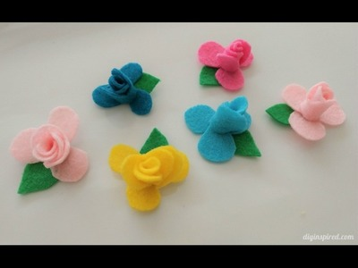 DIY Craft: How to Make Mini Felt Flowers