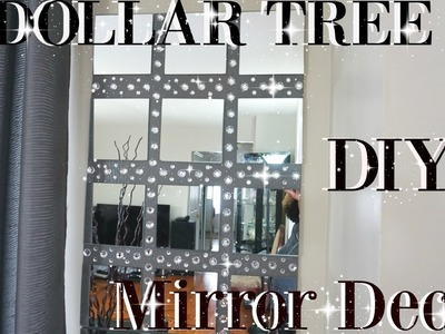 DIY DOLLAR TREE BLING MIRROR WALL ART DECOR | PETALISBLESS