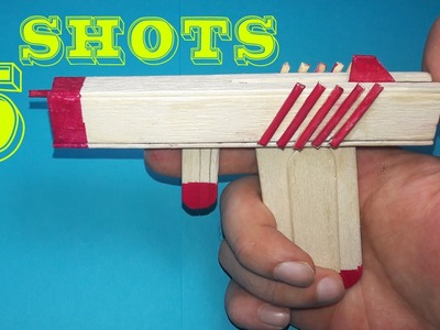 |DIY|How To Make A Rubber Band Gun Using  Popsicle Sticks - Toy Weapons -By Dr.Origami