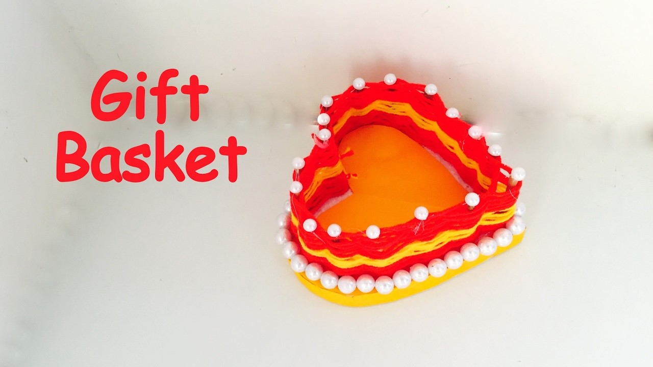 DIY - How to make HEART GIFT BASKET? paper craft. Best gift ideas. best out of waste.