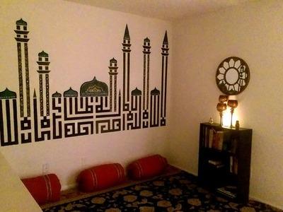 DIY loft decoration| DIY roll pillow| majlis set up|beautiful