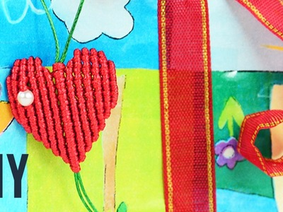DIY Macrame Heart Gift for Valentines | Tutorial
