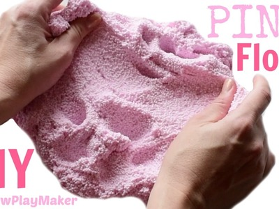 DIY PINK FLOAM SLIME !!! Crunchy & Satisfying !! ASMR Easy & Fun!
