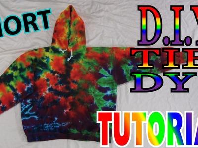 DIY Rainbow Sweatshirt Tie Dye Crinkle [Short Tutorial]
