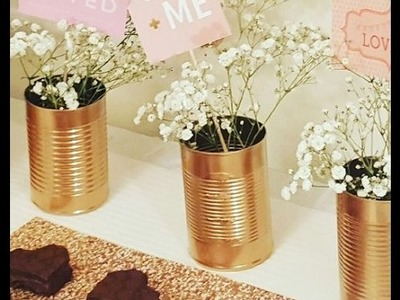 DIY Tin Can Craft Rose Gold and Copper