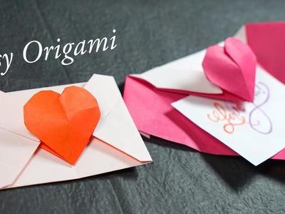 Easy Origami Heart Envelope Tutorial (Henry Phạm)