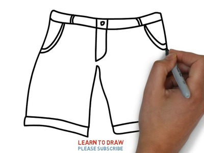 Easy Step For Kids How To Draw a Men's Shorts