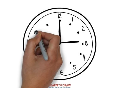 Easy Step For Kids How To Draw a Clock