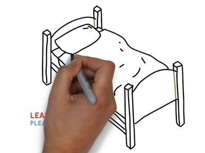 Easy Step For Kids How To Draw a Bed
