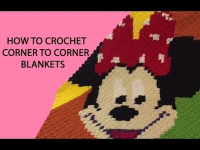 Ηow to crochet Corner To Corner (C2C) Blankets