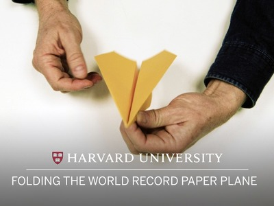 Folding the world record paper plane