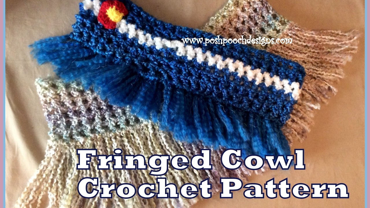 Fringed cowl crochet pattern my crafts and diy projects for Crochet crafts that sell well