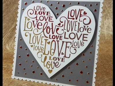 Glitter Valentine with the Silhouette Cameo & Elizabeth Craft Designs