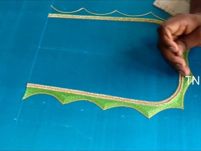 Hand embroidery tutorial for beginners | bridal maggam work blouses, diy life hacks,TNBN Tv Live