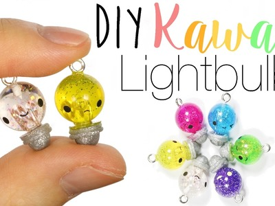 How to DIY Cute & Easy Light Bulb Polymer Clay.Resin Tutorial