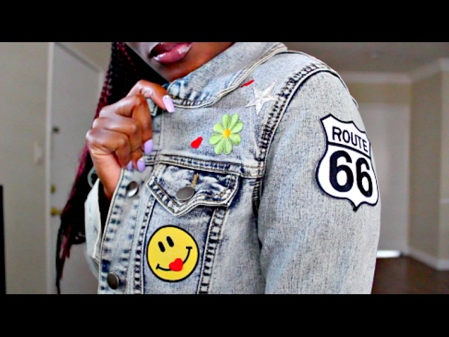HOW TO: DIY Patch Denim Jacket!! EASY & Inexpensive
