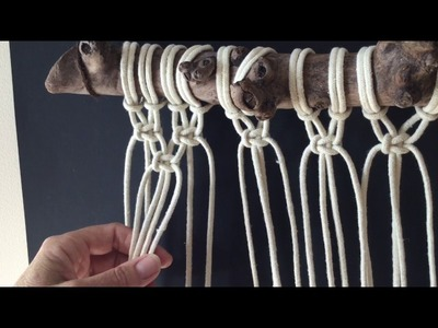 How to do macrame knots - ALTERNATING SQUARE KNOT