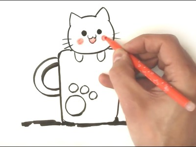 How to draw a kitten - Easy draw Step by Step - simple and fast