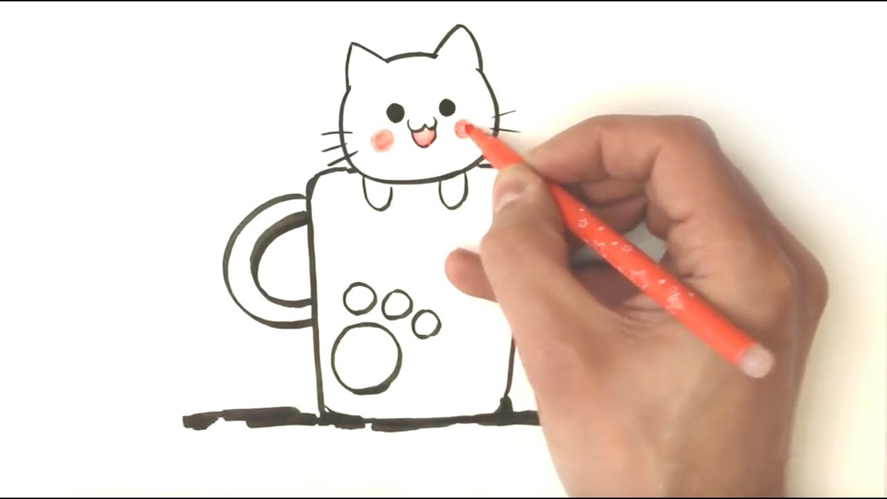How To Draw A Kitten Easy Draw Step By Step Simple And Fast
