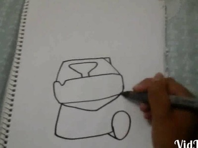 How to draw easy mini pekka.como dibujar facil al mini pekka.IKP