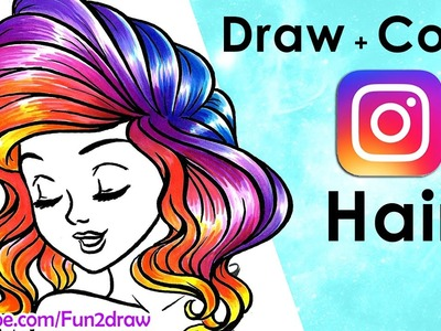 How to Draw Hair | Draw + Color EASY!