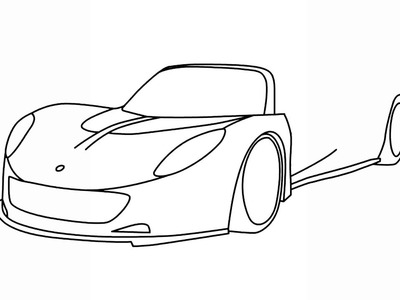 How to draw Hennessey Venom GT supercar step by step easy for beginners