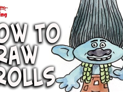 How to draw Trolls - easy for kids and beginners