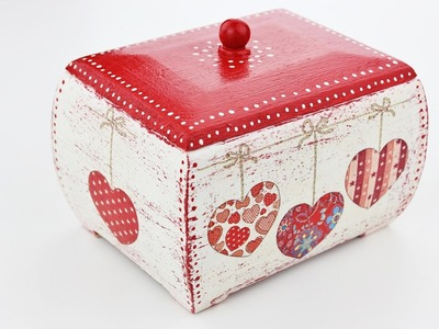 How to make a decoupage wooden box - Fast & Easy Tutorial - DIY