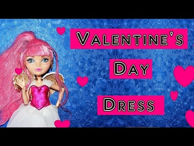 How to make a Valentine's Day Dress for Dolls Tutorial DIY