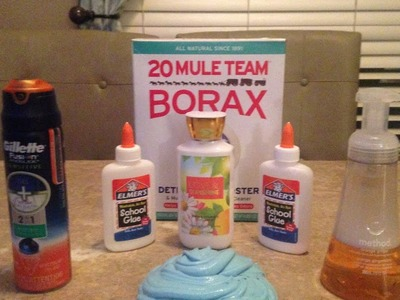 How To Make Fluffy Slime with Shaving Cream Borax Lotion No Liquid Starch DIY by KidzZone