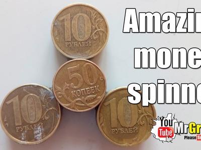How to make homemade spinner. DIY money spinner. Easy fidget toy