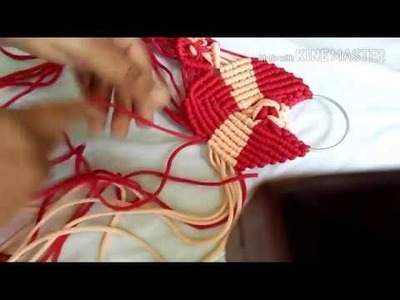 How to make napkin.towel holder with macrame