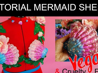 How to make Shells for a MERMAID BRA