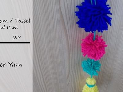 How to: Pom-Pom. Tassel Decorated || DIY