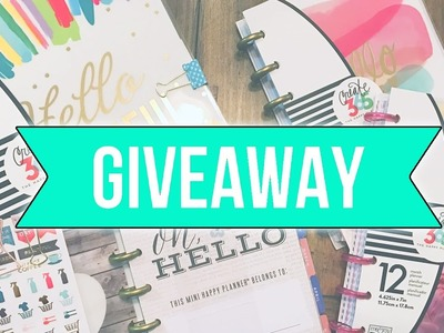 HUGE HAPPY PLANNER GIVEAWAY! ♥CLOSED♥ | GET ORGANIZED IN 2017