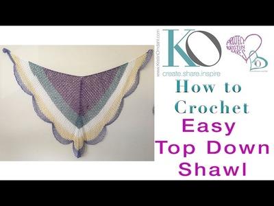 Lacy Cake Easy Crochet Shawl Top Down Triangle Shawl