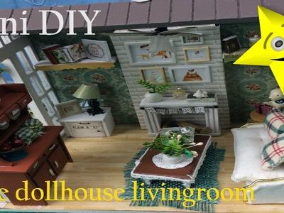 Mini DIY Awesomediydollcraft DollHouse Cute Miniature Kit.Supper Cute Living room