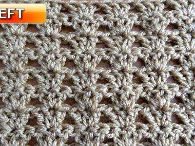 MINI SHELLS - Left Handed Crochet Tutorial