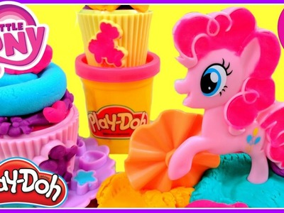 My Little Pony Pinkie Pie Cupcake Party PLAY DOH! MLP DIY Play Dough Cupcakes Maker!  Baking Play Do