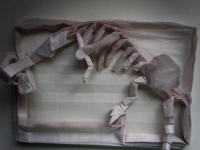 Origami Dinosaur Skeleton Time Lapse