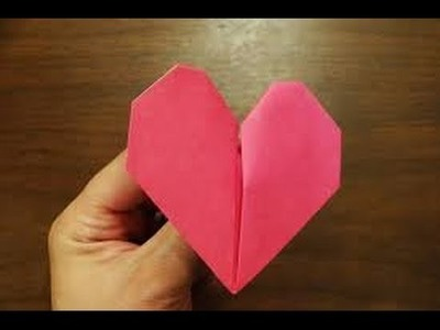 Origami Easy Valentine's Day Pumping Heart!